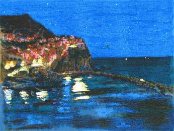 Natale Addamiano - Manarola by night